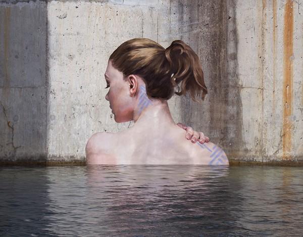 Thẫn thờ trước những bức tranh gái đẹp tắm sông được vẽ trên tường - ảnh 7