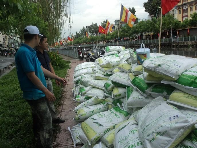 Rải 7 tấn hóa chất xử lý ô nhiễm kênh Nhiêu Lộc - Thị Nghè - ảnh 6