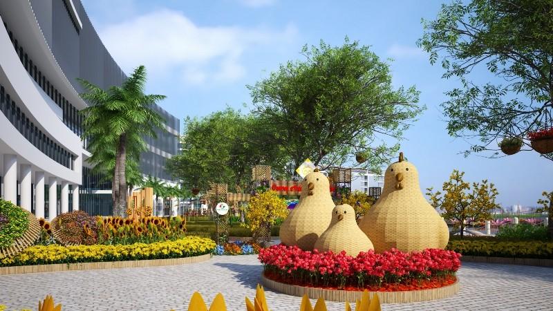 Phối cảnh hội chợ hoa xuân Phú Mỹ Hưng tết Đinh Dậu  - ảnh 5