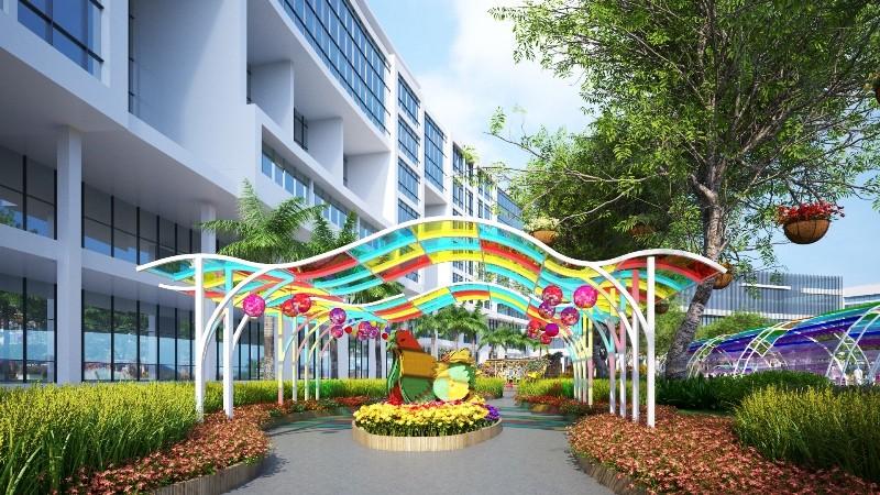Phối cảnh hội chợ hoa xuân Phú Mỹ Hưng tết Đinh Dậu  - ảnh 13