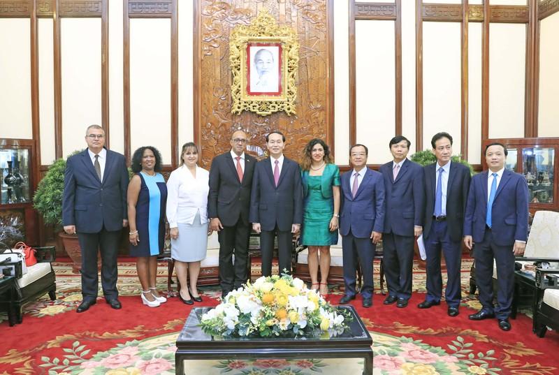 Chùm ảnh: Chủ tịch nước Trần Đại Quang tiếp đại sứ Cuba - ảnh 4