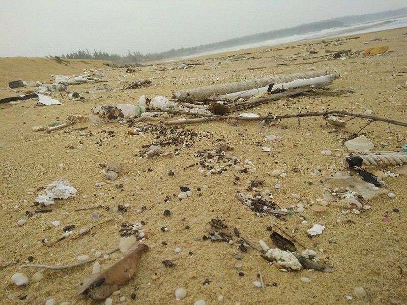 10 km bờ biển ngổn ngang vỏ chai nhãn Trung Quốc - ảnh 2