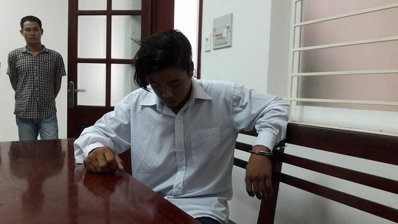 Châu Minh Nhân tại cơ quan công an