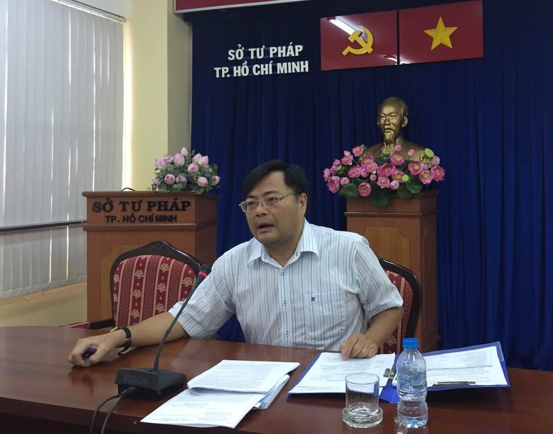 Sở Tư pháp TP họp báo kỷ niệm Ngày pháp luật Việt Nam  - ảnh 1