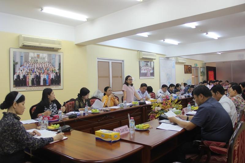 hội nghị giao ban tư pháp 24 quận-huyện