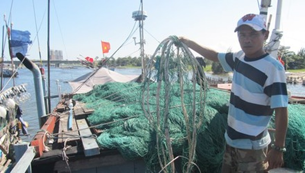 Audio: Lưới ngư dân bị phá trên vùng đánh bắt chung với TQ - ảnh 1