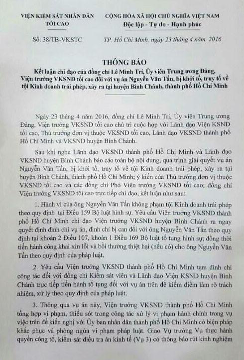 Người trực tiếp ký quyết định truy tố chủ quán Xin Chào bị tạm đình chỉ - ảnh 1