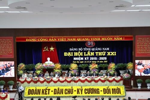 Khai mạc Đại hội Đảng bộ tỉnh Quảng Nam lần thứ XXI - ảnh 1