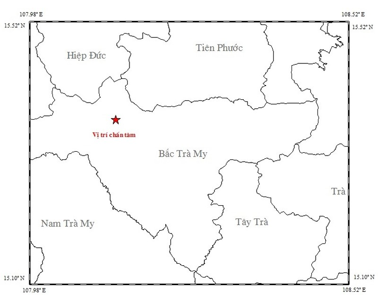 Động đất 3,2 độ richter ở Quảng Nam - ảnh 1