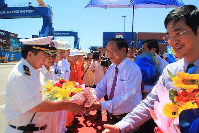 Khai trương tuyến hàng hải quốc tế Hàn Quốc-Chu Lai - ảnh 2