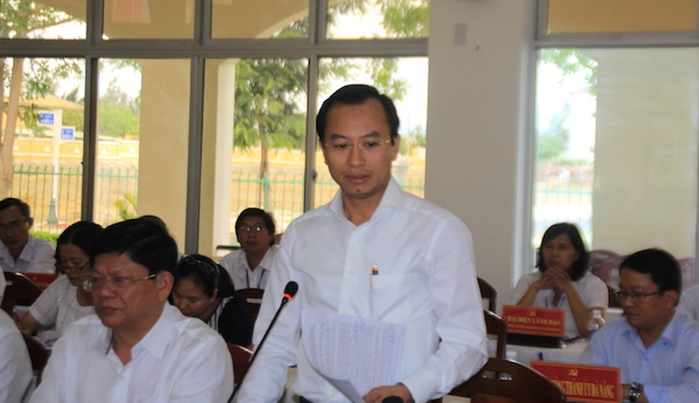 Bí thư Thành uỷ Đà Nẵng Nguyễn Xuân Anh kết luận cuộc làm việc. Ảnh: LÊ PHI.