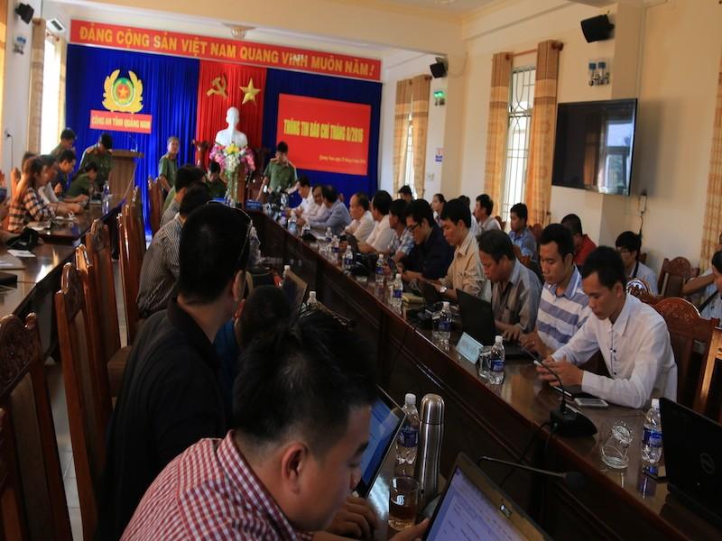 Quảng Nam: Họp báo công bố bắt giữ nhiều đối tượng phá rừng pơ mu - ảnh 1