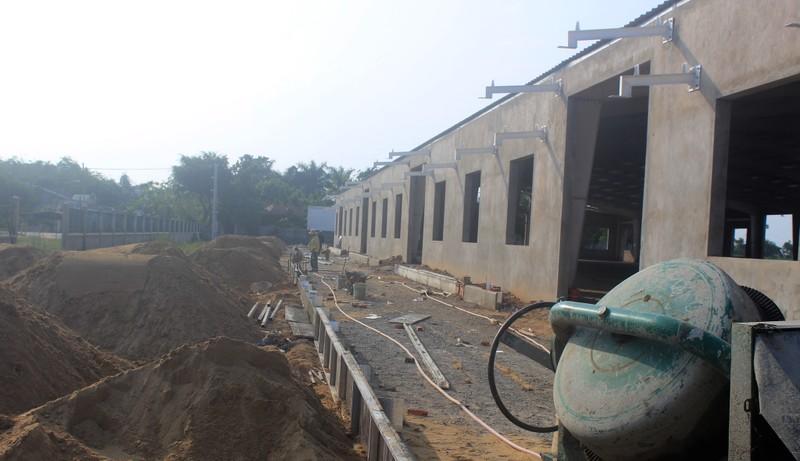 Nhà máy được Công ty TNHH MTV Da Nang Plastic xây dựng trái phép. Ảnh: ĐD.