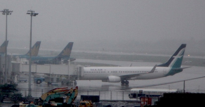 Máy bay C17 của đoàn Mỹ tới sân bay Đà Nẵng   - ảnh 1