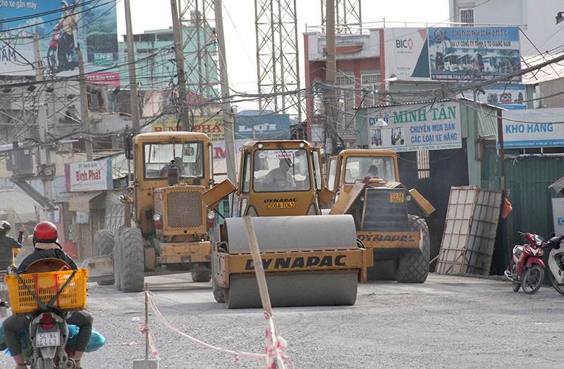 Nâng đường Kinh Dương Vương: Sẽ hoàn thành vào tháng 11 - ảnh 1