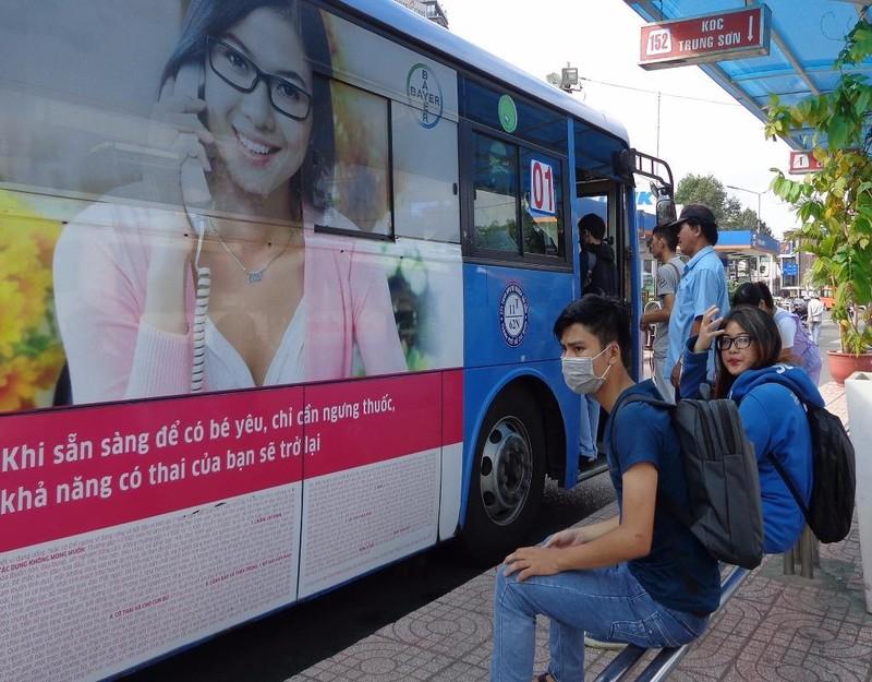 công ty nước ngoài quảng cáo trên xe bus