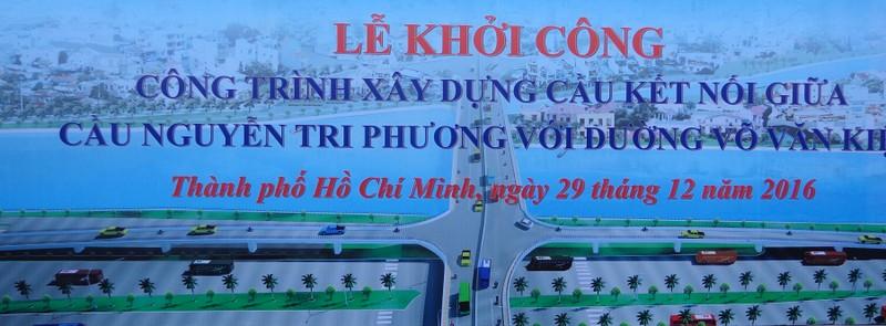 Xây cầu nối đường Võ Văn Kiệt với cầu Nguyễn Tri Phương - ảnh 1