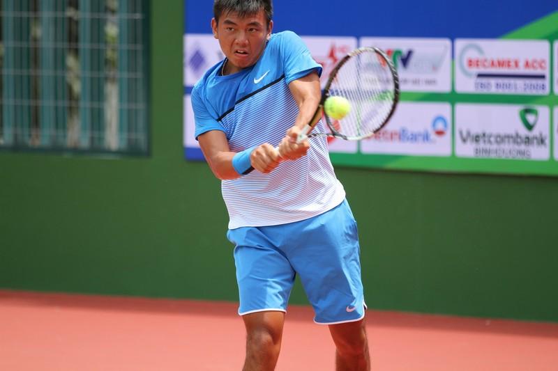 Tay vợt Lý Hoàng Nam dừng bước ngay tại vang 1 sau thất bại trước hạt giống số 6. ẢNH: MQ.