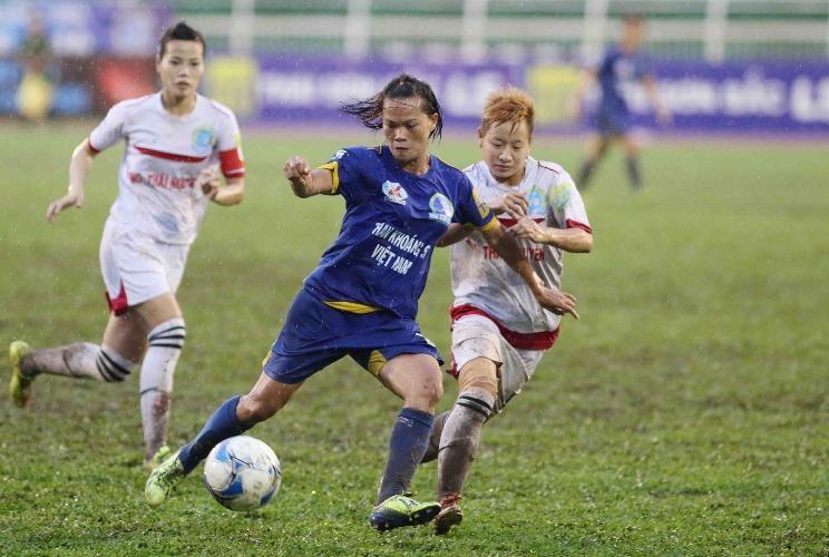 Bất ngờ đánh bại TNG Thái Nguyên lượt đấu cuối, Than Khoáng Sản VN giành suất vào bán kết. ẢNH: CMQ