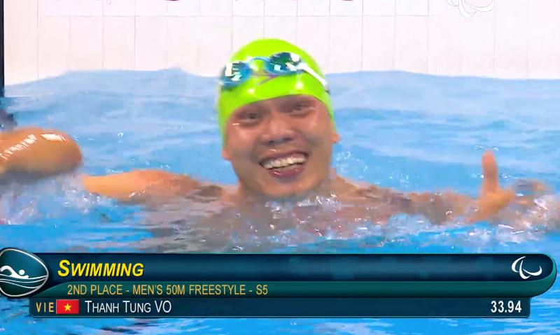 Võ Thanh Tùng xuất sắc đoạt HCB bơi Paralympic - ảnh 2