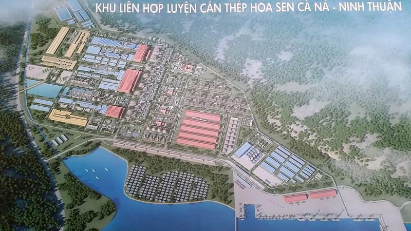 Siêu dự án thép Cà Ná có tổng vốn đầu tư khoảng 10 tỉ USD. Ảnh: TP