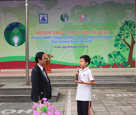 Học sinh tham gia Sáng tạo vì môi trường - ảnh 1