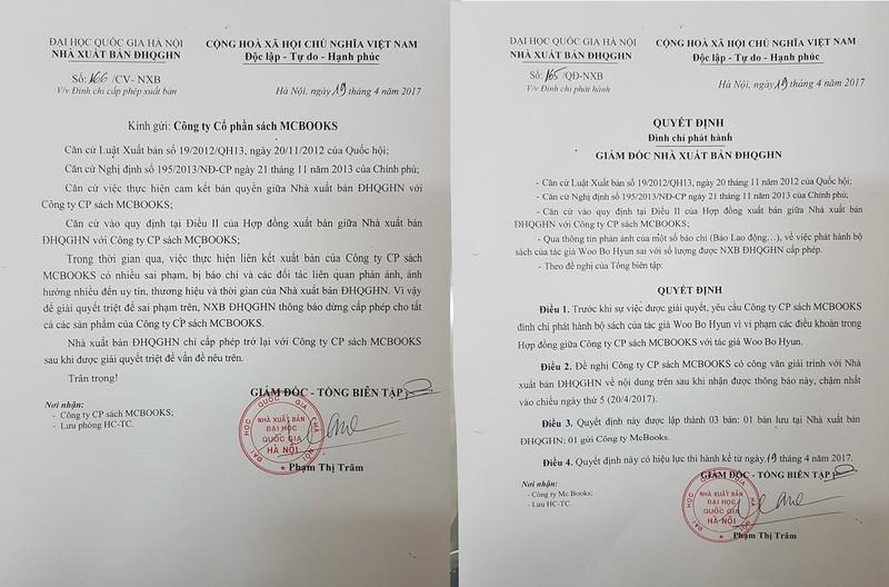 Tác giả Hàn Quốc 'tố', MCBooks bị NXB dừng cấp phép - ảnh 1