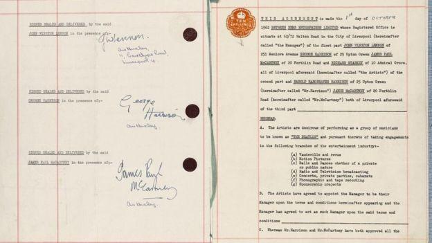 Hợp đồng khởi nghiệp của ban nhạc The Beatles bán nửa triệu USD - ảnh 2