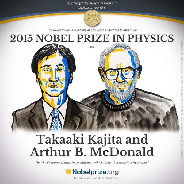 Giải Nobel Vật lý 2015 cho công trình khám phá tận cùng vật chất - ảnh 1