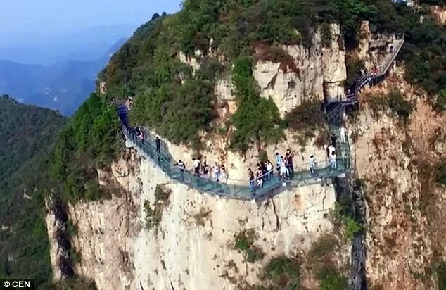 Cầu kính Trung Quốc bị nứt, du khách hoảng sợ bỏ chạy - ảnh 2