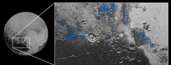 """NASA công bố Sao Diêm Vương có """"bầu trời xanh"""" và nước dạng băng - ảnh 2"""