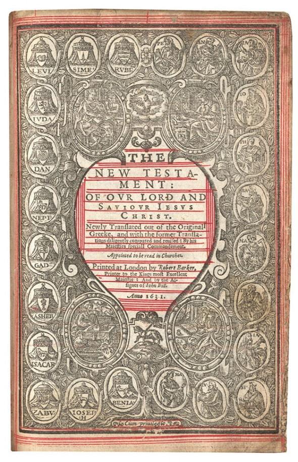 Đấu giá bản Kinh thánh cuối cùng có lỗi đánh máy 'chết người'  - ảnh 2