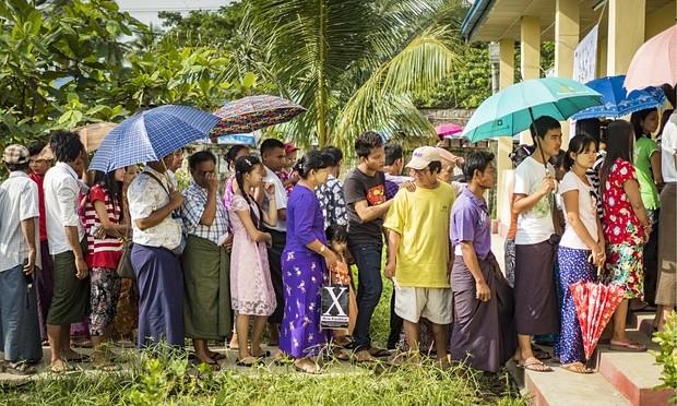 Bầu cử Myanmar: Rộng đường chiến thắng với bà Aung San Suu Kyi  - ảnh 1