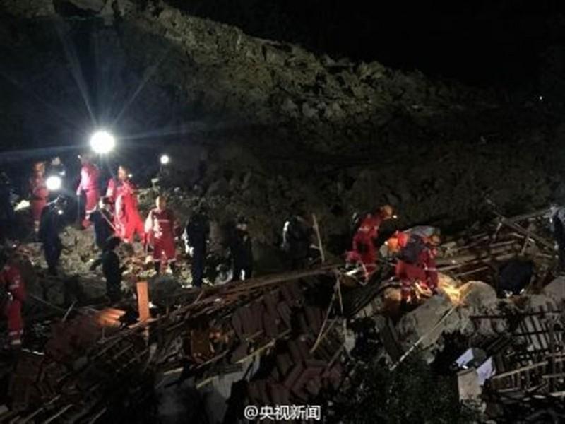 Trung Quốc: Sạt lở đất, bốn người chết, 33 người mất tích - ảnh 1