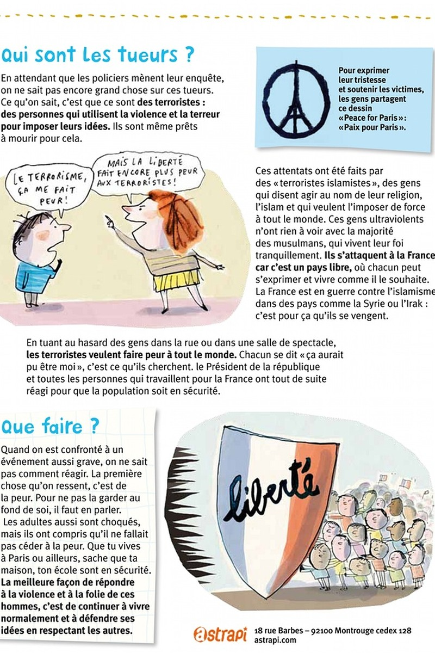 Pháp cho in tờ rơi  giải thích vụ khủng bố Paris - ảnh 2