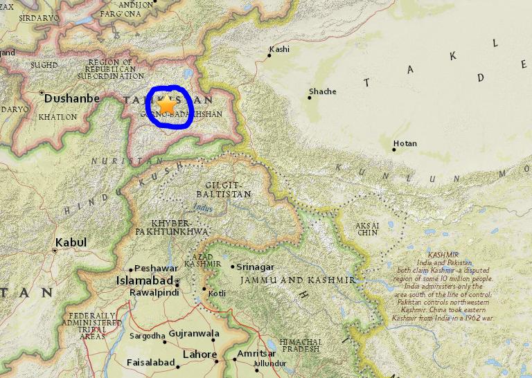 Động đất 7,2 độ Richter rung chuyển Trung Á - ảnh 1