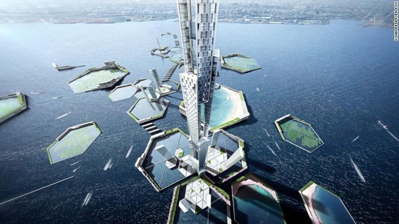 Tokyo chuẩn bị xây dựng tòa tháp chọc trời cao 1,6 km - ảnh 1