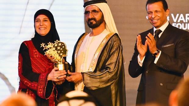Cô giáo Palestine nhận giải thưởng triệu đô - ảnh 1