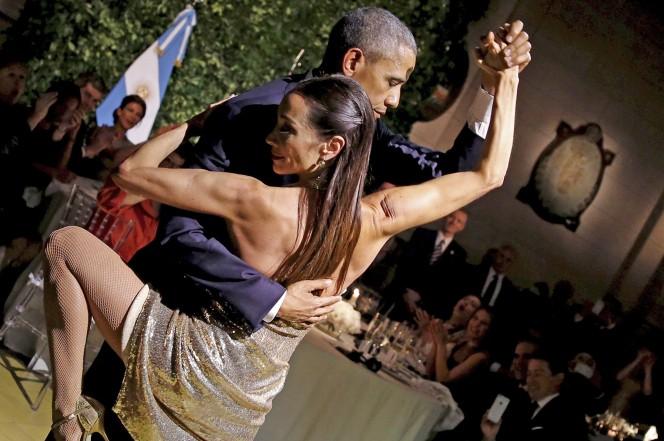 Clip Tổng thống Obama nhảy tango cùng nữ vũ công Argentina - ảnh 1