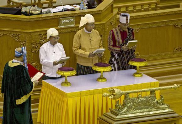 Tân tổng thống Myanmar tuyên thệ nhậm chức - ảnh 1