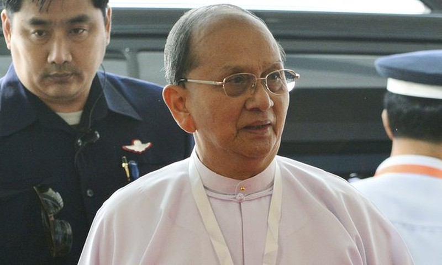 Cựu tổng thống Myanmar xuống tóc xuất gia - ảnh 2