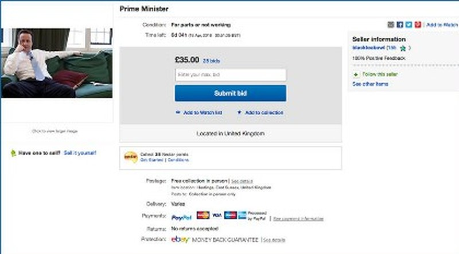 Thủ tướng Anh bị rao bán trên trang eBay - ảnh 1