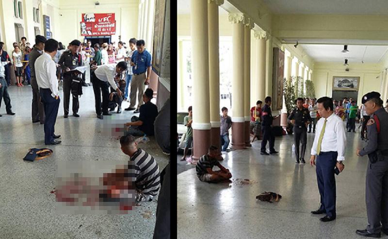 Nổ bom nhà ga Thái Lan, 2 người bị thương - ảnh 1