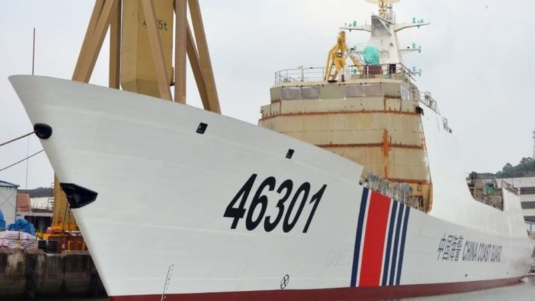 Trung Quốc điều động cả tàu hộ vệ tên lửa làm tàu hải cảnh? - ảnh 1