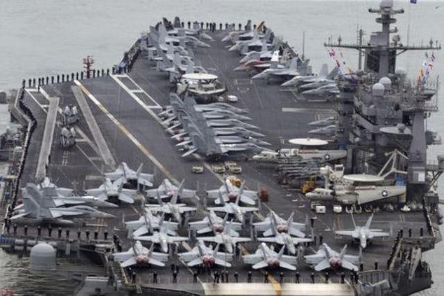 Tàu Trung Quốc bí mật theo dõi Mỹ, Ấn, Nhật tập trận - ảnh 1