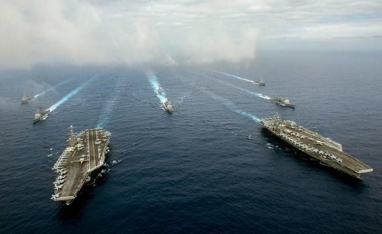 2 tàu Mỹ hoạt động ở biển Philippines trước khi PCA ra phán quyết - ảnh 1