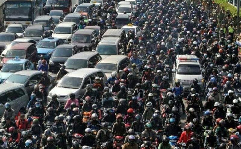 tắc đường ở Indonesia, 18 người chết