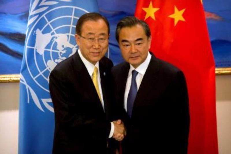 Ban Ki-moon và Vương Nghị