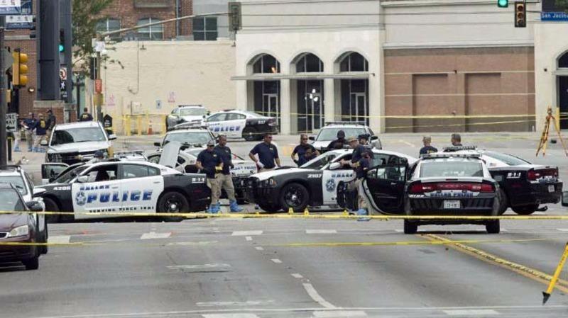 sở cảnh sát Dallas bị đe dọa