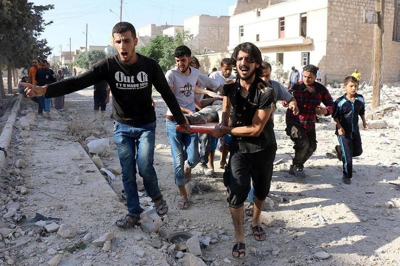 không kích Syria